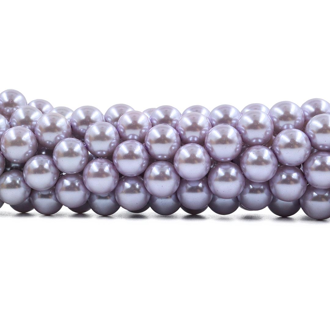 Pérola de Vidro Lilás 12mm - 36 pérolas - PM167  - ArtStones
