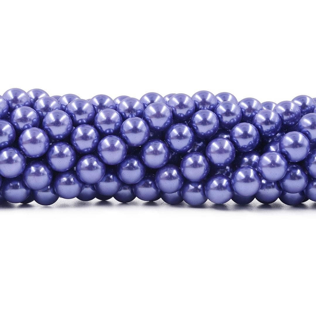 Pérola de Vidro Purple 10mm - 40 pérolas - PM154  - ArtStones