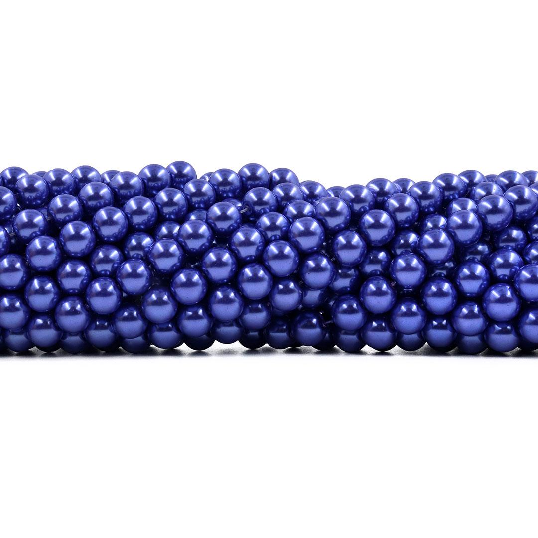 Pérola de Vidro Purple 8mm - 53 Pérolas - PM227  - ArtStones