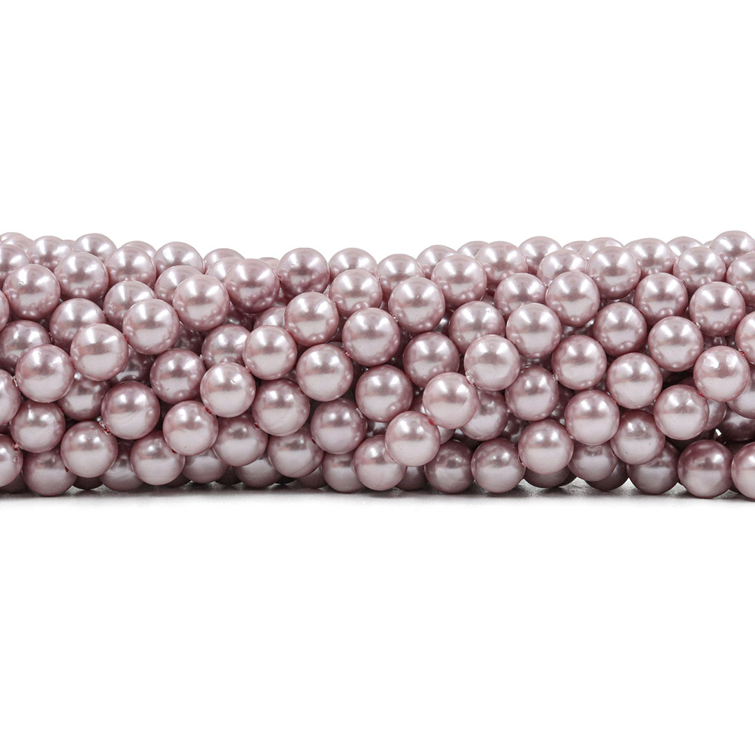 Pérola Shell Rose Fio com Esferas de 8mm - PM078  - ArtStones