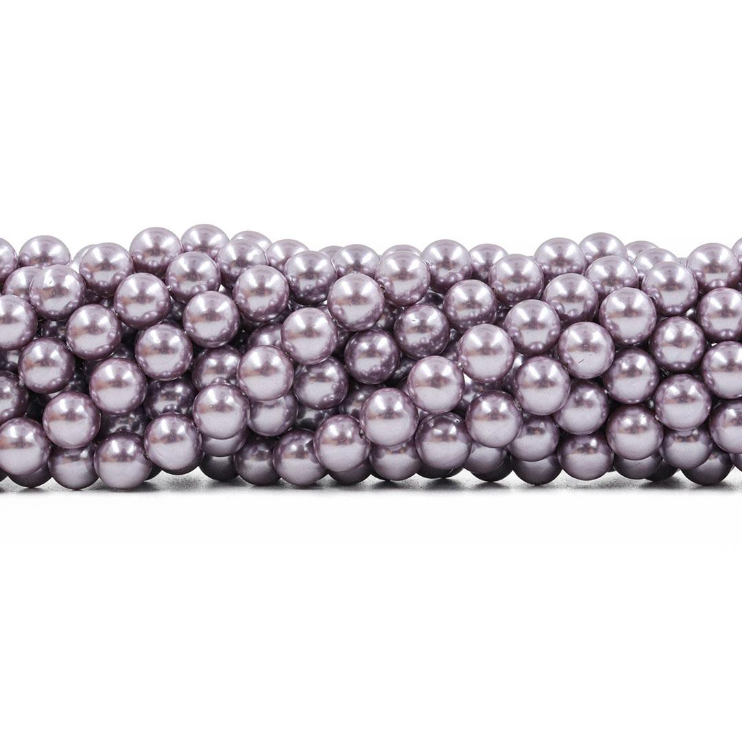 Pérola Shell Lavander Fio com Esferas de 8mm - PM241  - ArtStones