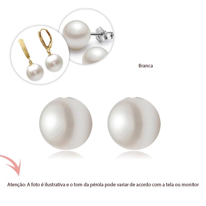 Pérola Shell Meio Furo 12mm - Par - PM218  - ArtStones