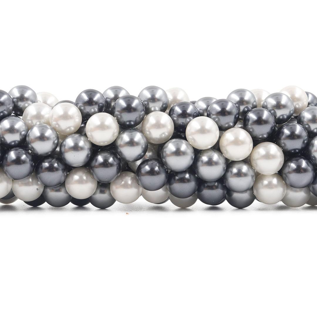 Pérola Shell Mix Áquila Esferas de 10mm - PM183  - ArtStones