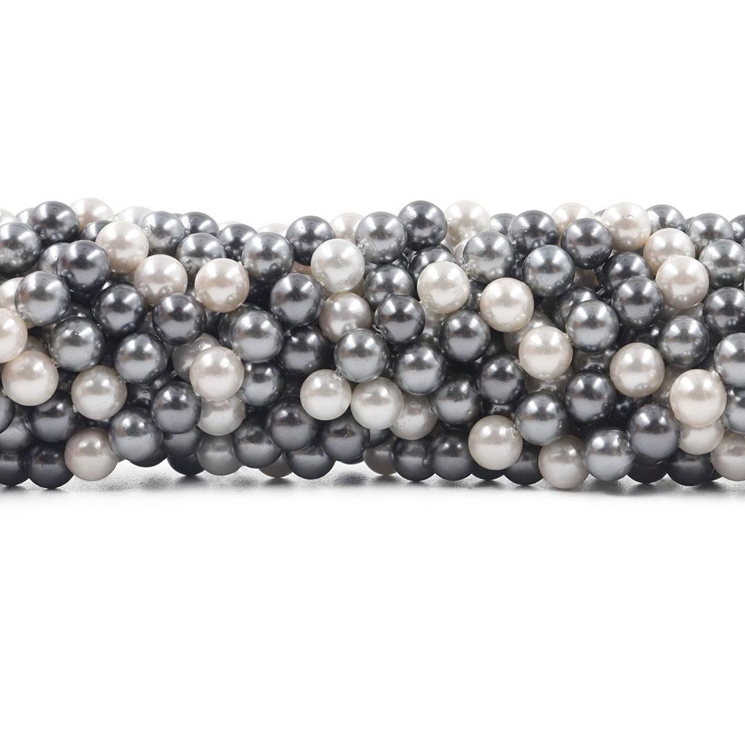 Pérola Shell Mix Áquila Fio Esferas de 6mm - PM181  - ArtStones