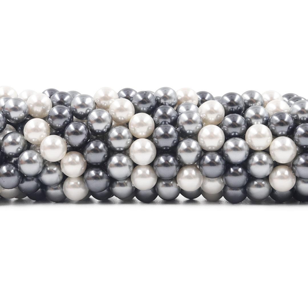 Pérola Shell Mix Áquila Fio Esferas de 8mm - PM182  - ArtStones