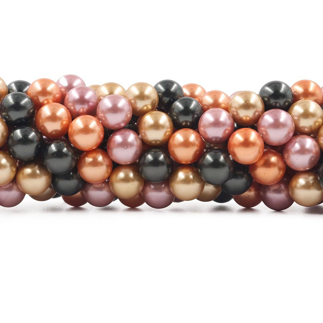 Pérola Shell Mix Bérgamo Esferas de 10mm - PM179  - ArtStones