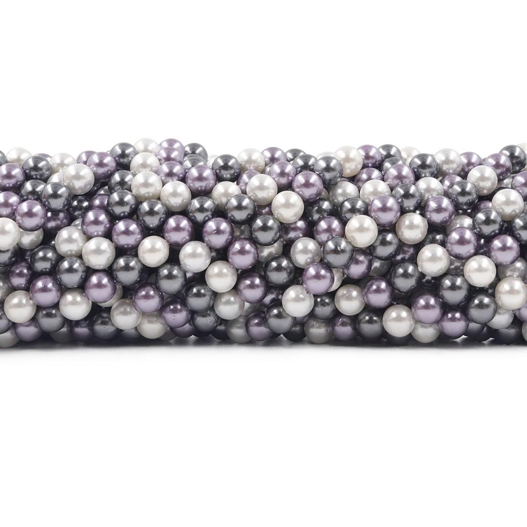 Pérola Shell Mix Bogotá Fio Esferas de 6mm - PM171  - ArtStones