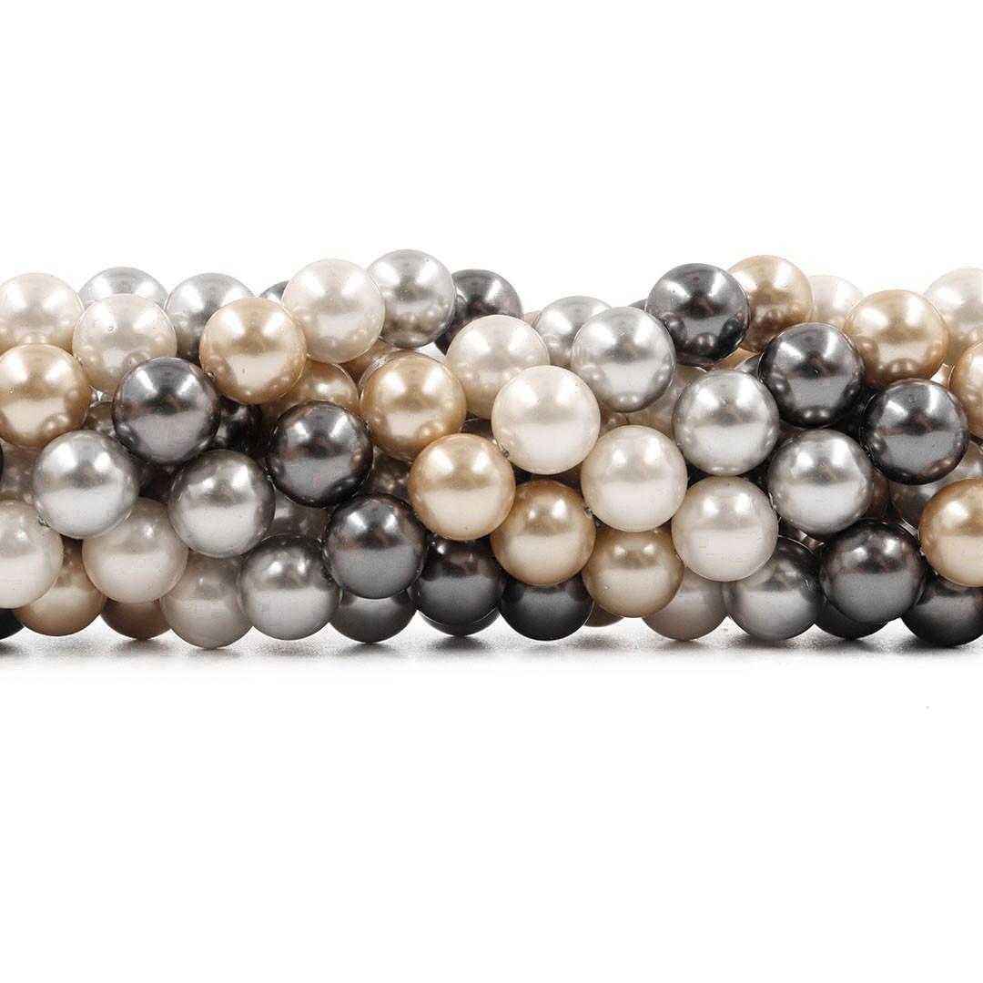 Pérola Shell Mix Glacial Fio Esferas de 10mm - PM169  - ArtStones