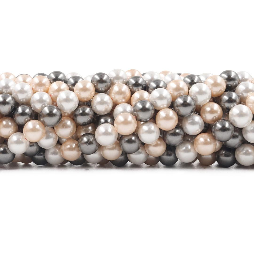 Pérola Shell Mix Glacial Fio Esferas de 8mm - PM034  - ArtStones