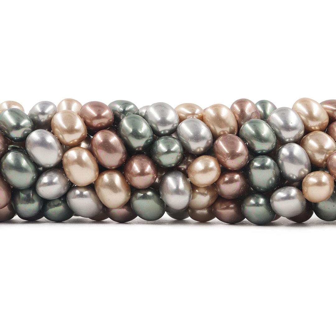 Pérola Shell Mix London 12/13mm Oval - PM157  - ArtStones