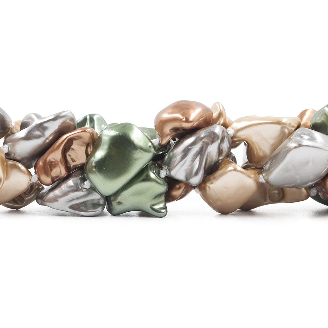 Pérola Shell Mix London Disforme - PM005  - ArtStones