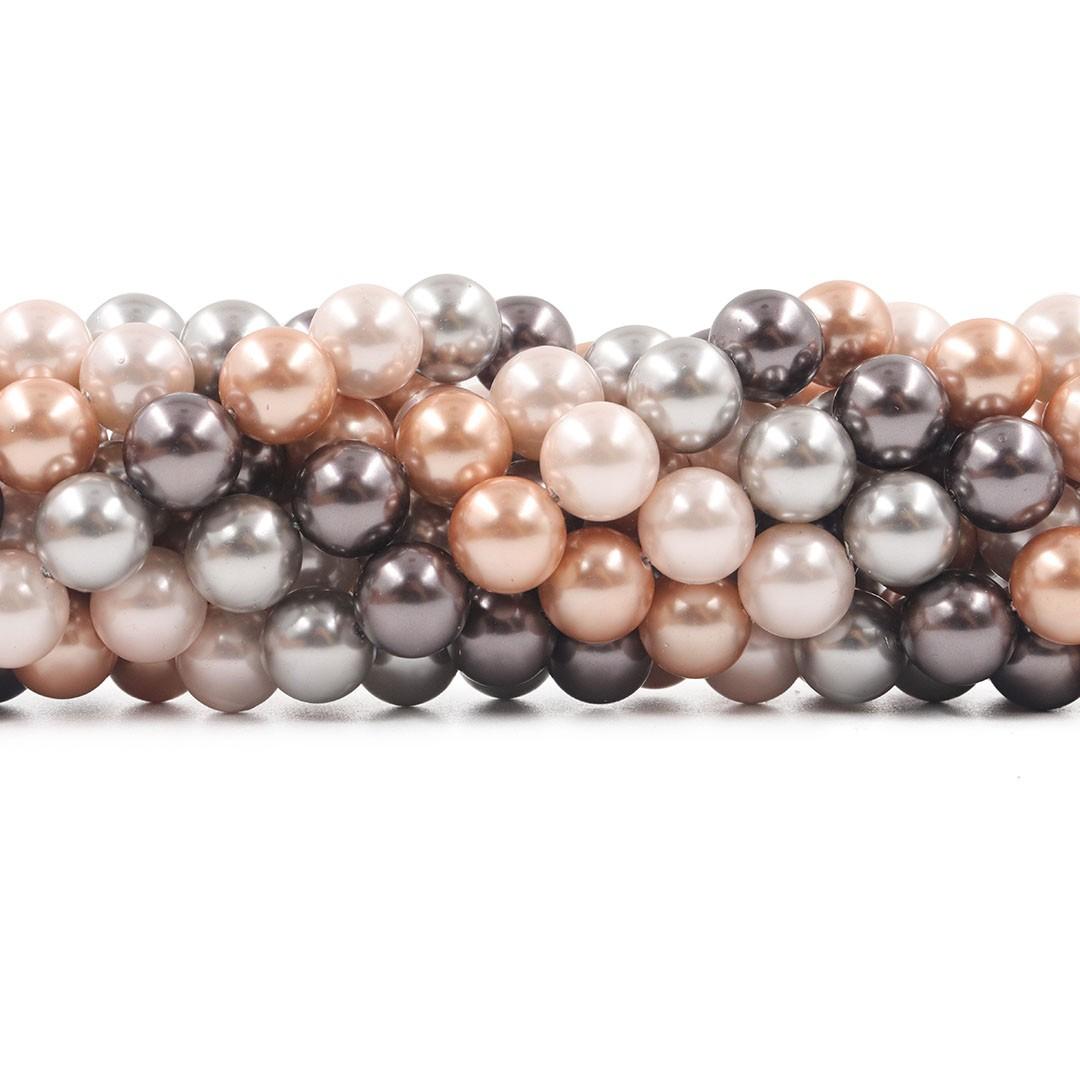 Pérola Shell Mix Milão Esferas de 10mm - PM188  - ArtStones