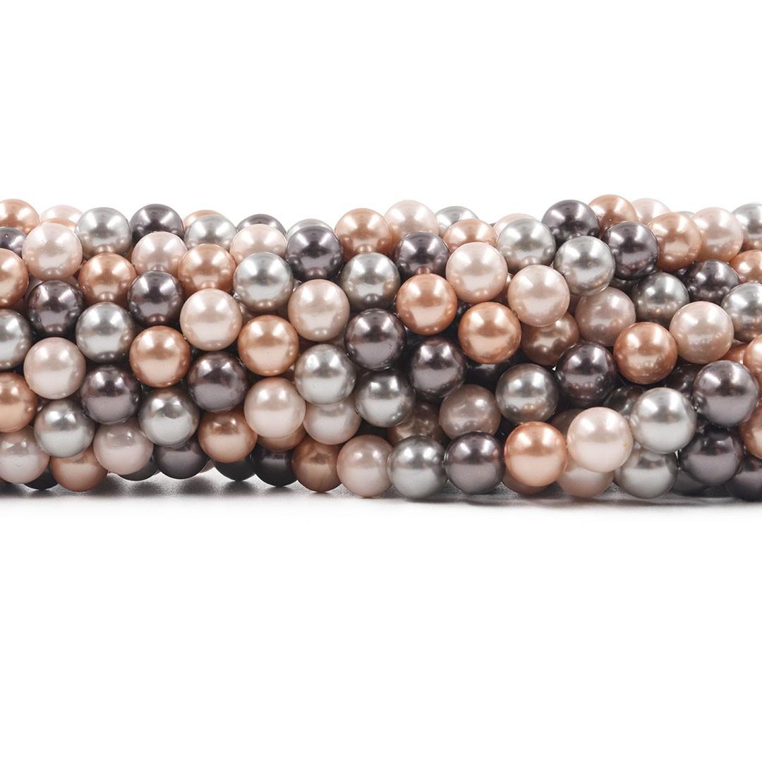 Pérola Shell Mix Milão Fio Esferas de 8mm - PM187  - ArtStones