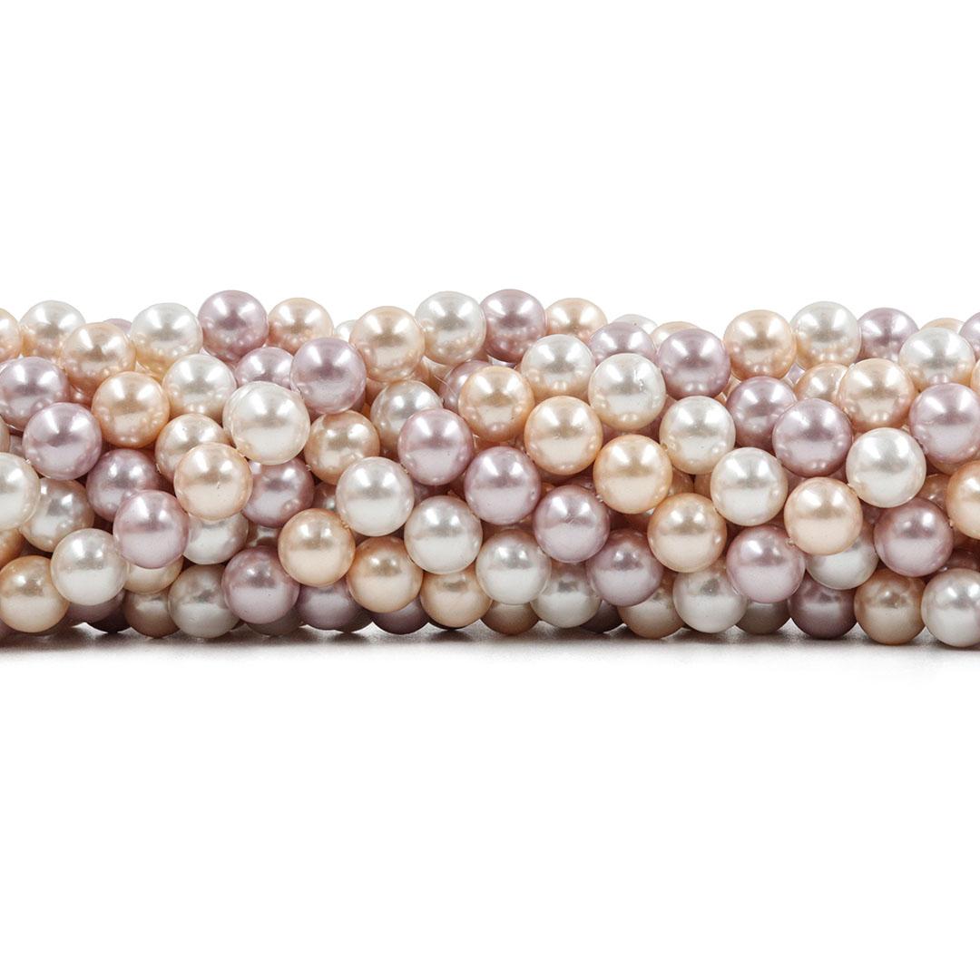 Pérola Shell Mix Nevada Fio Esferas de 8mm - PM064  - ArtStones