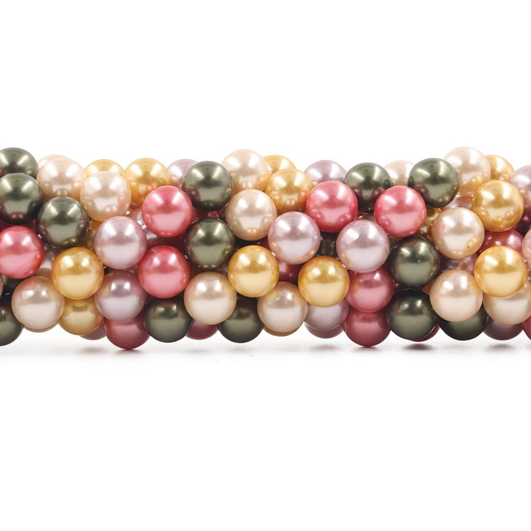 Pérola Shell Mix Ravenna Esferas de 10mm - PM189  - ArtStones