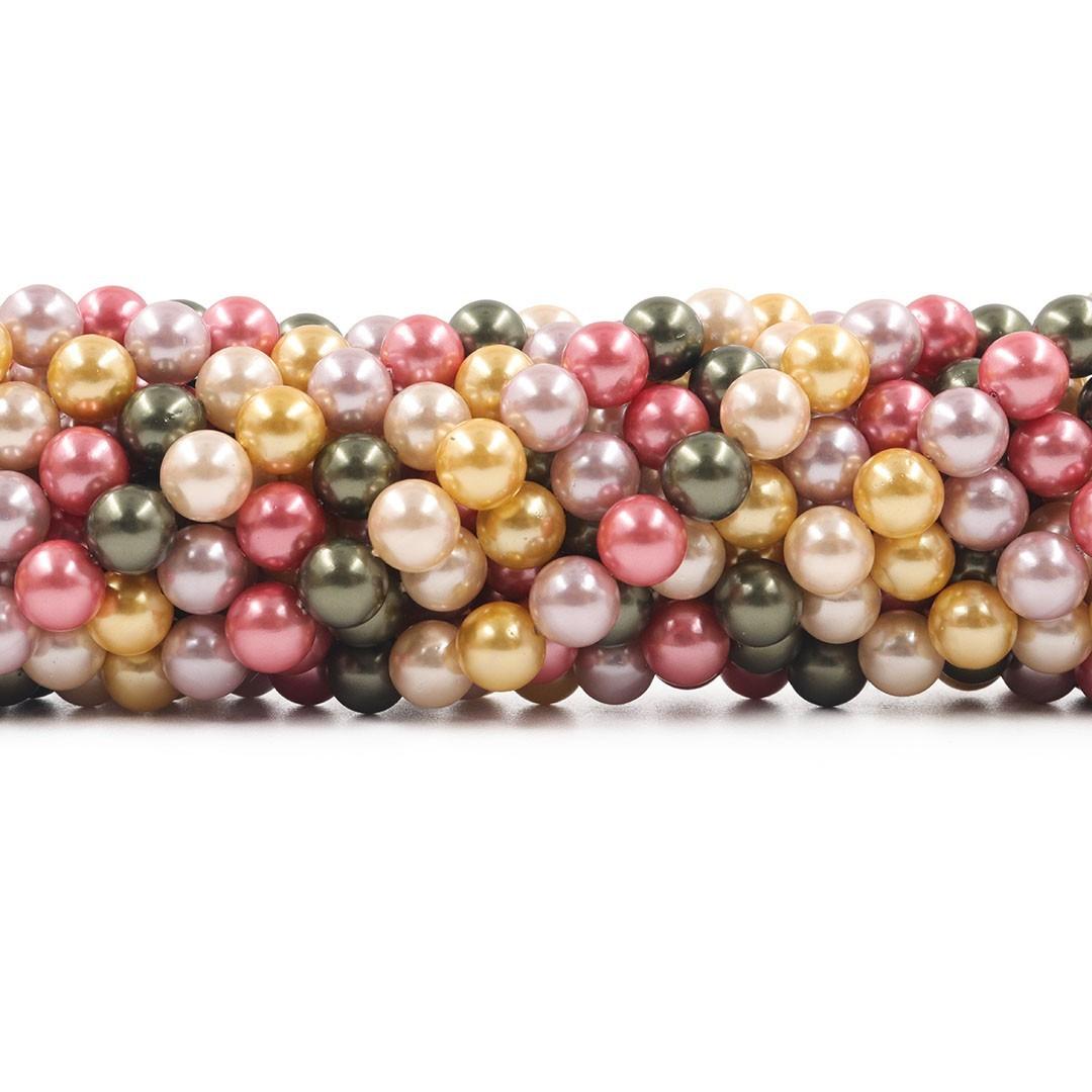 Pérola Shell Mix Ravenna Fio Esferas de 8mm - PM190  - ArtStones