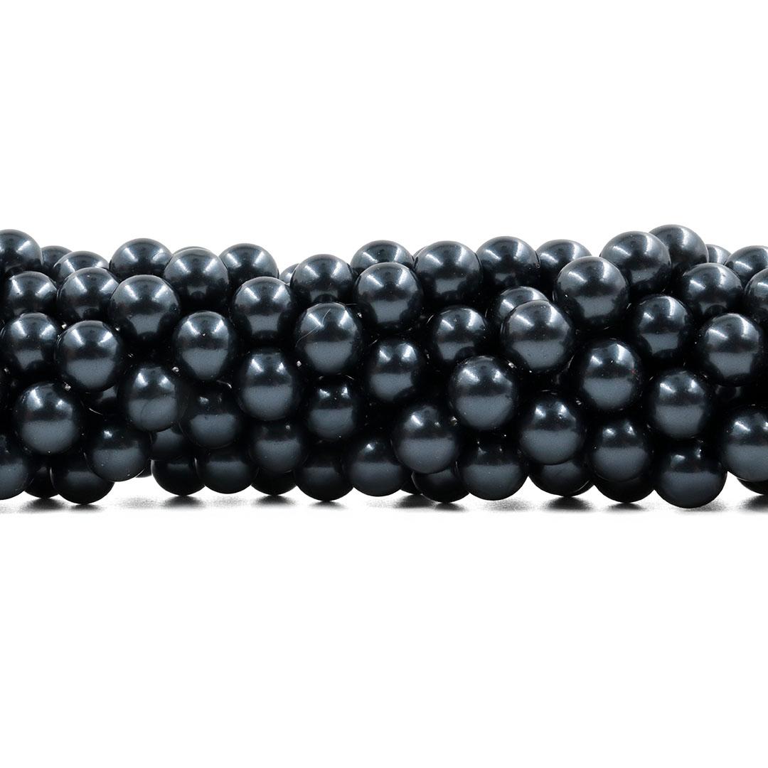 Pérola Shell Negra Matte Legítima Fio com Esferas de 10mm - PM235  - ArtStones