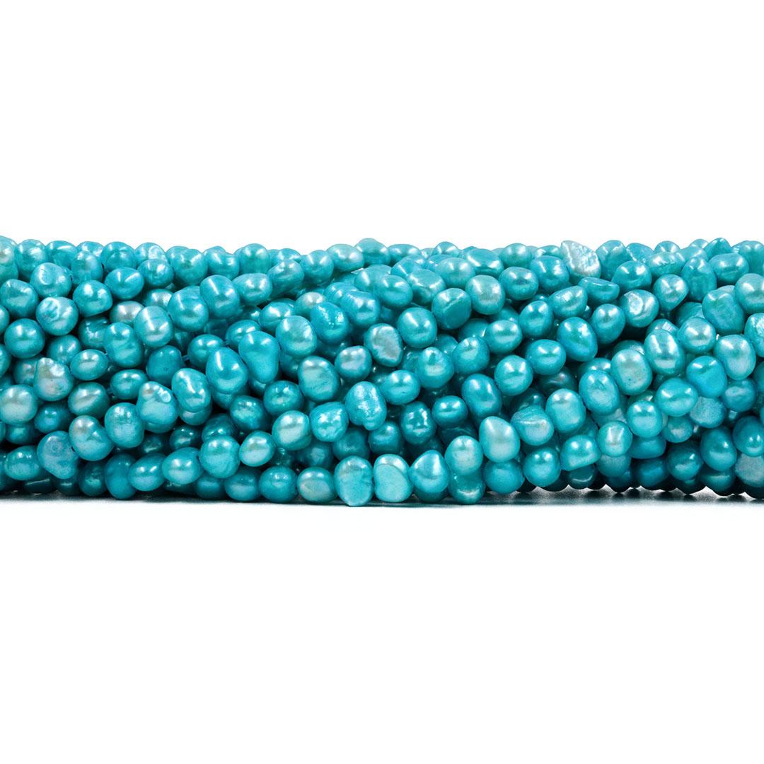 Pérola de Água Doce Azul Mesclada Pão 5/7mm - PM096  - ArtStones