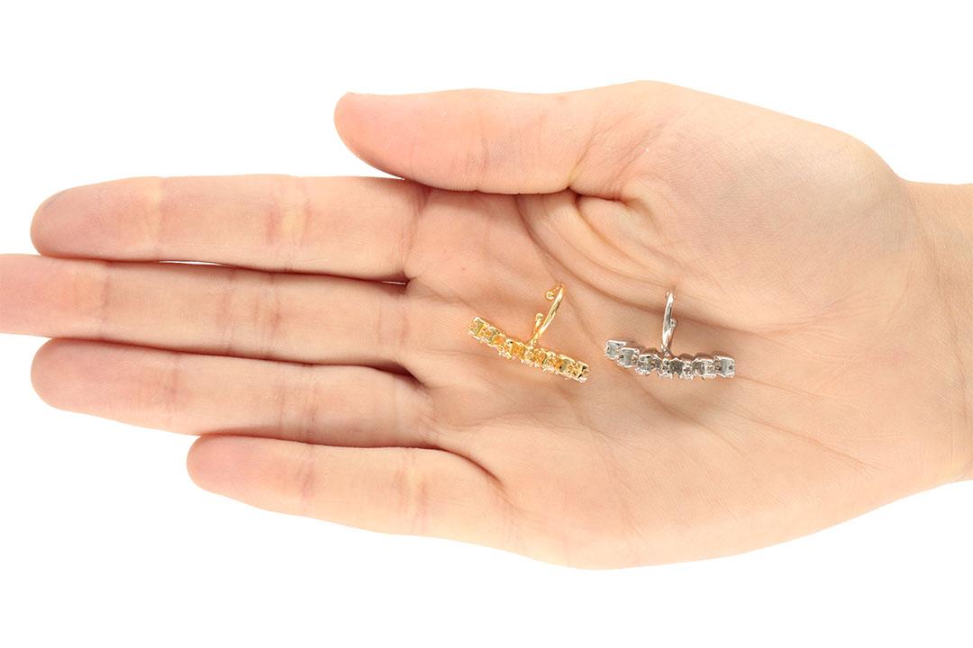 Piercing Fake com Zircônias Navete Folheado 24x6mm - 1 Peça - FO445  - ArtStones