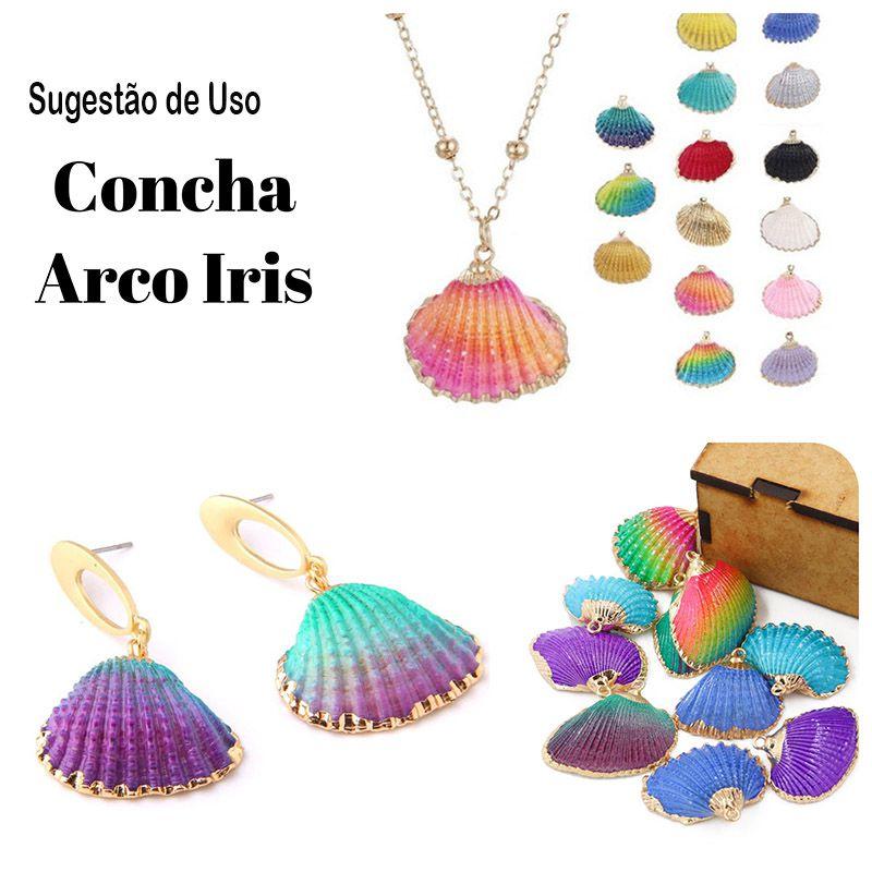 Pingente Concha Búzios Tamanhos e Cores Variadas - 2 peças - PG017  - ArtStones