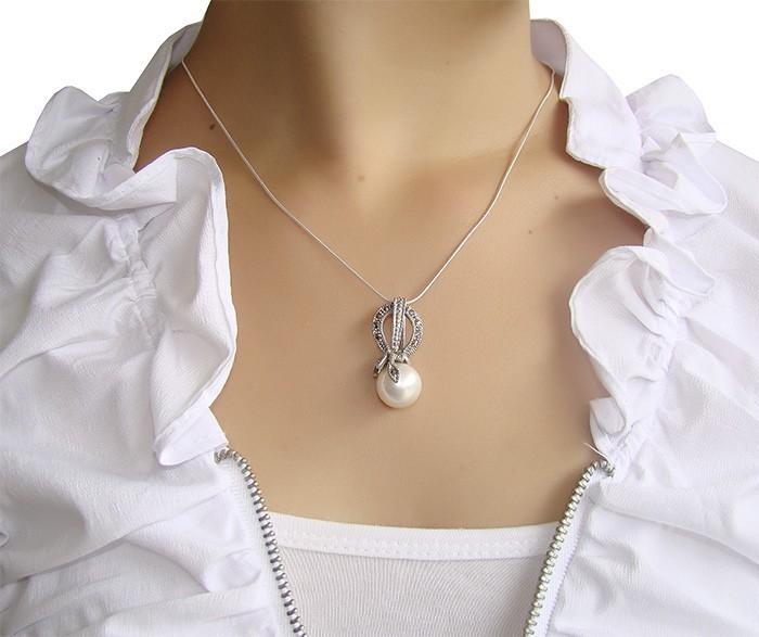 Pingente de Prata Indiana com Pérola Shell - PG050  - ArtStones