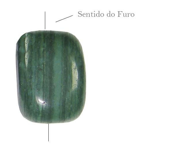 Malaquita Natural Toquinho 13x17mm - 2 Peças - PMO_173  - ArtStones