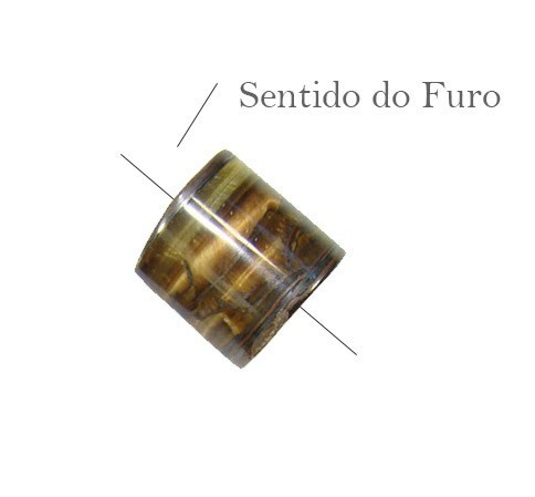 Rolete de Olho de Tigre 16 a 32mm - 2 Peças - PA030  - ArtStones