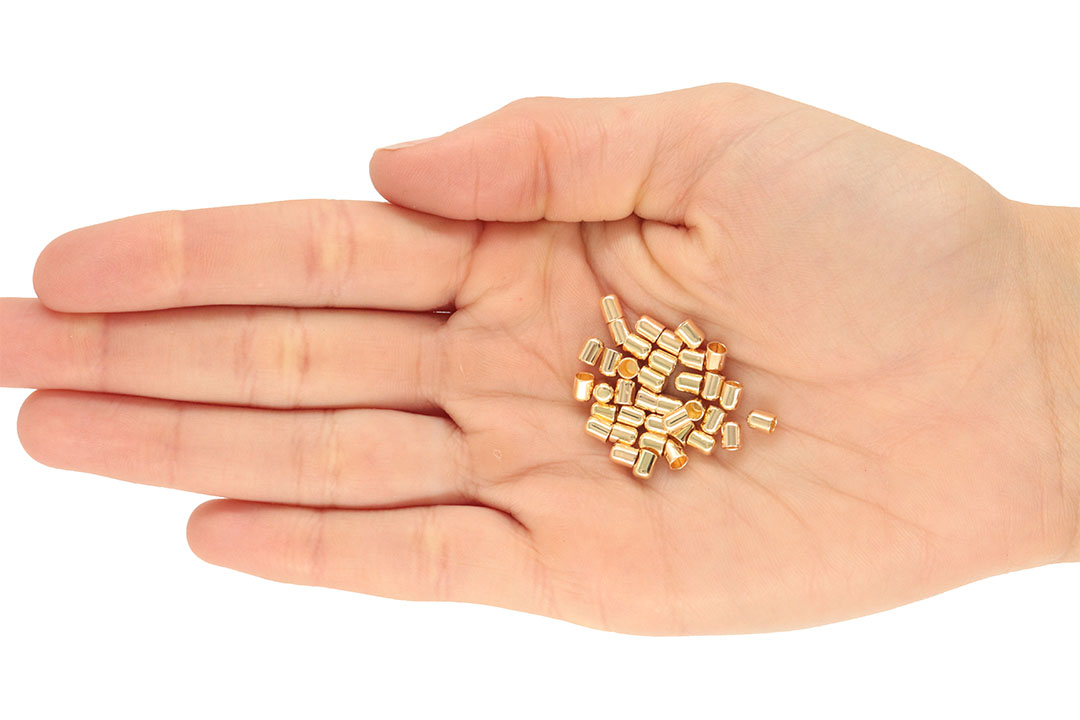 Ponteira para Couro e Cordão de 2.5mm Folheada - 2grs - FO425  - ArtStones