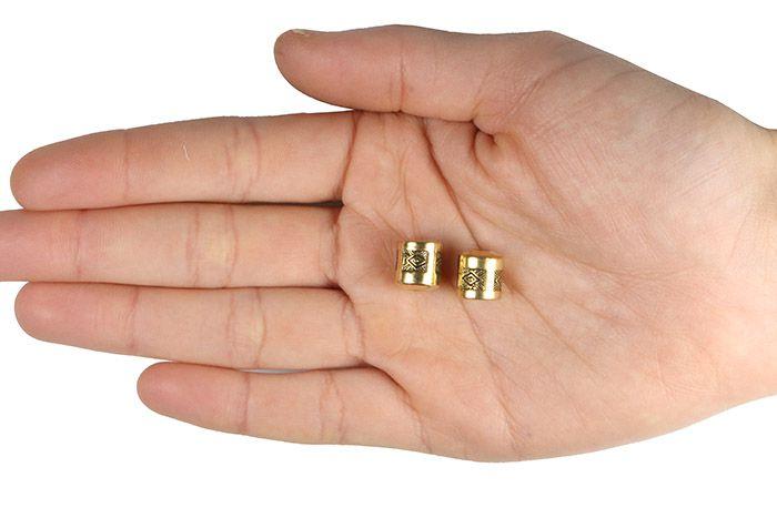 Ponteira Rolete de ABS Cores Variadas 50grs - ABS013  - ArtStones