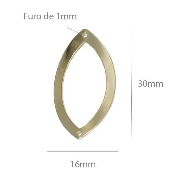 Prolongador de Brinco Folheado a Ouro 30x16mm - Par - PBF_103  - ArtStones