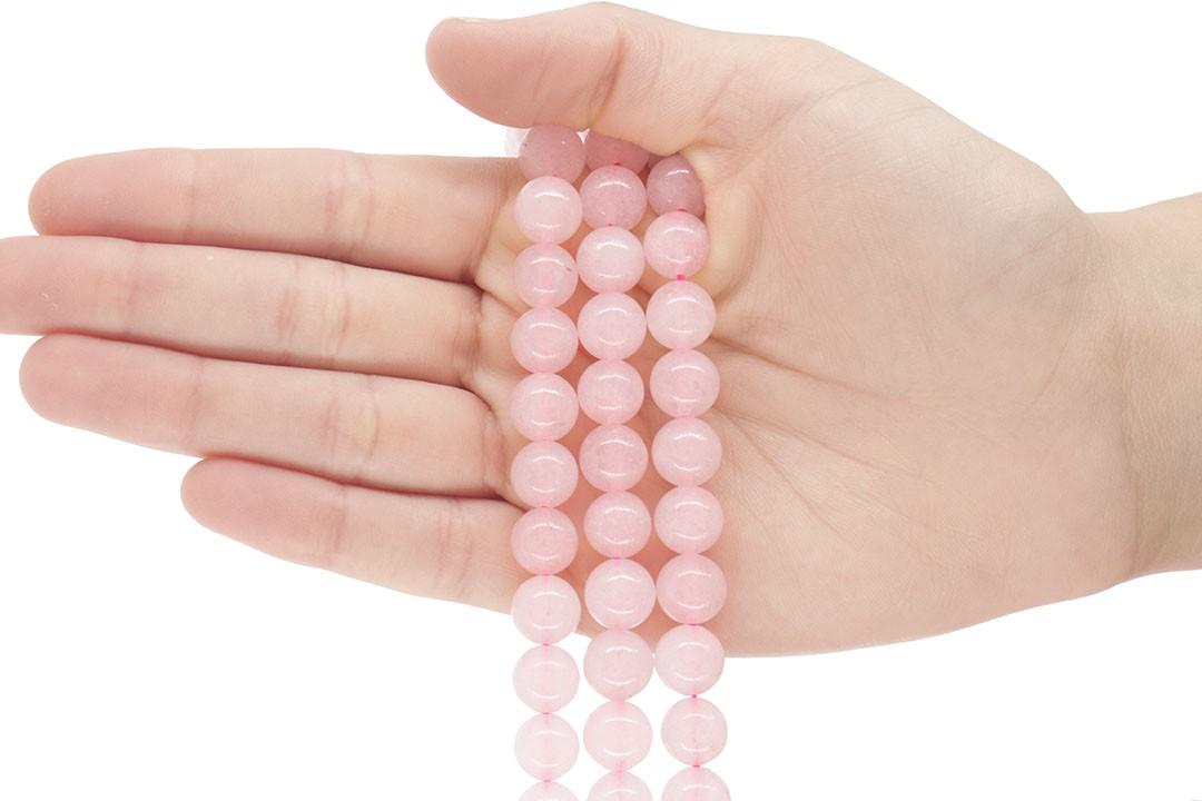 Quartzo Rosa Fio com Esferas de 10mm - F627  - ArtStones