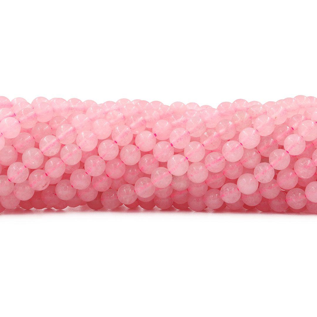Quartzo Rosa Fio com Esferas de 4mm - F665  - ArtStones