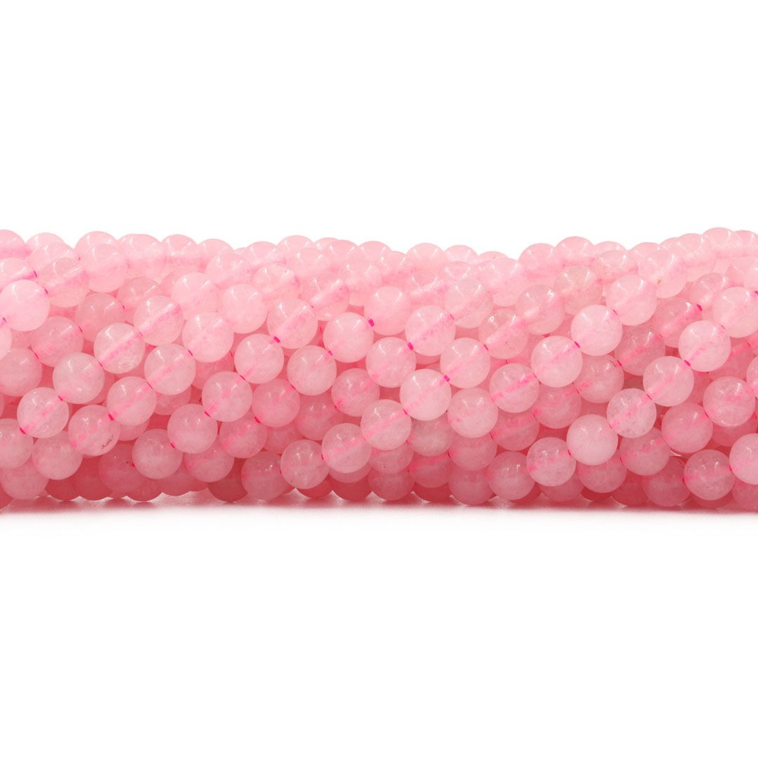Quartzo Rosa Fio com Esferas de 6mm - F491  - ArtStones