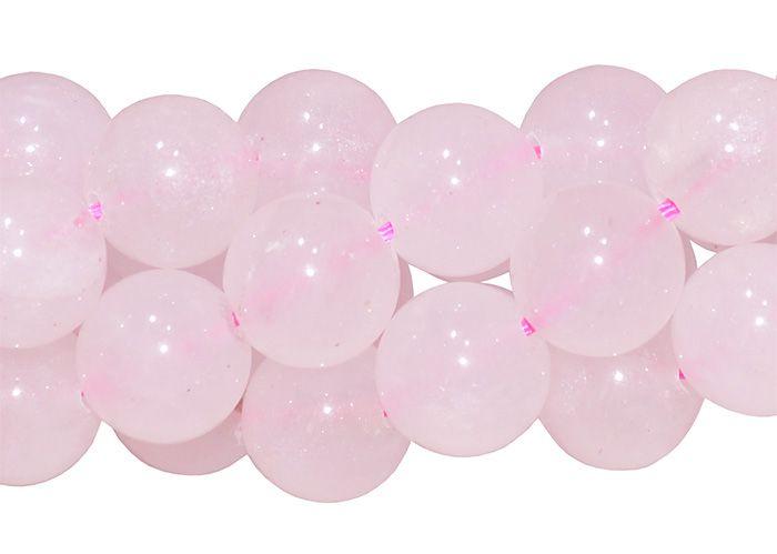 Quartzo Rosa Fio com Esferas de 12mm - F496  - ArtStones