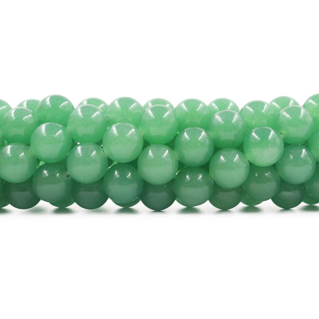 Quartzo Verde Fio com Esferas de 12 mm - F122  - ArtStones