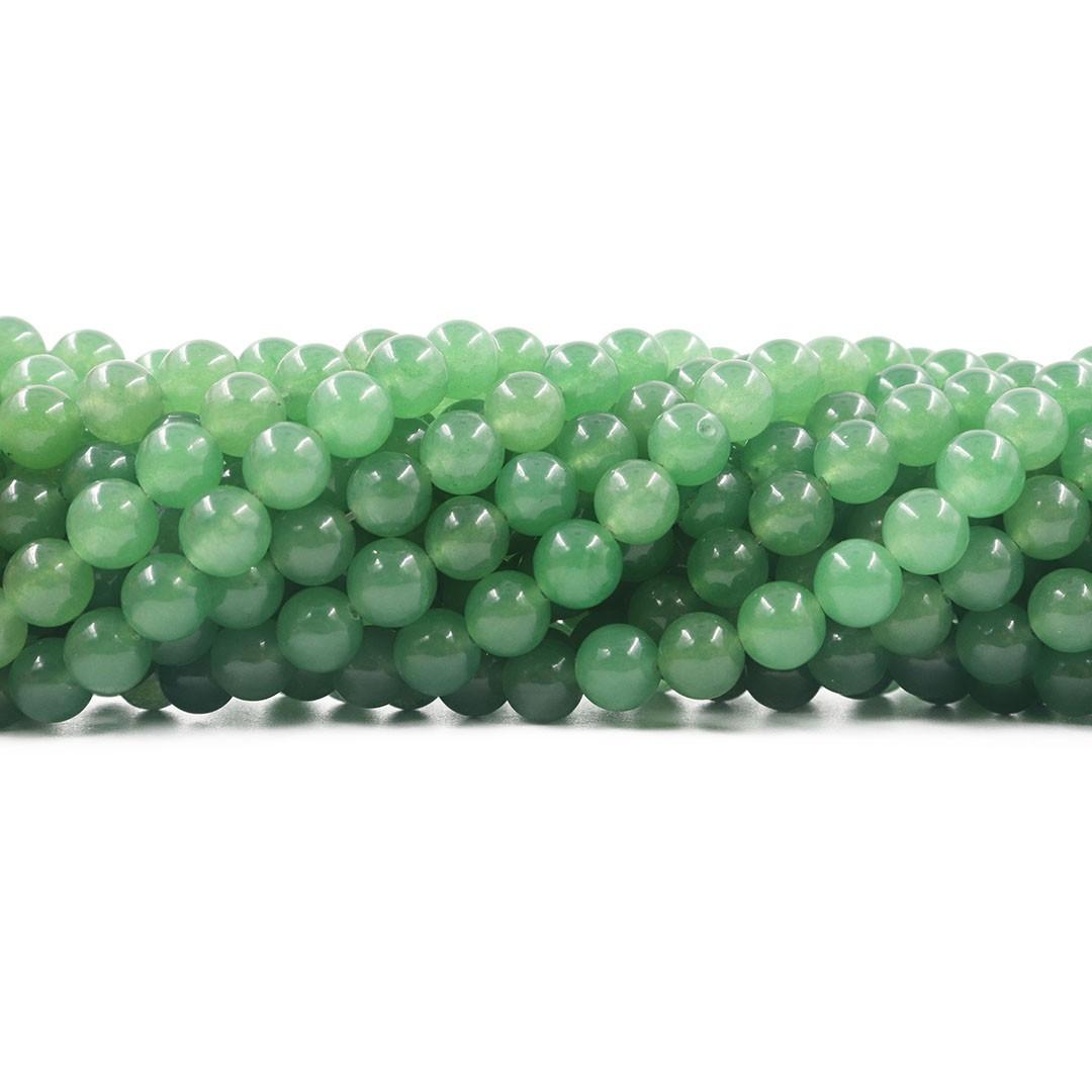Quartzo Verde Fio com Esferas de 8mm - F043  - ArtStones