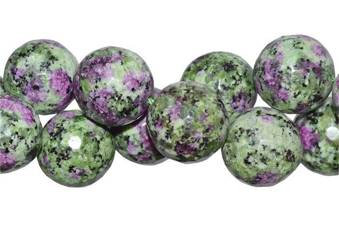 Rubi Zoisite Natural Fio com Esferas Facetadas de 16mm - F510  - ArtStones