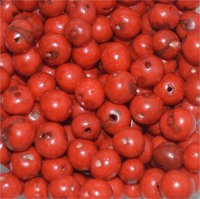 Semente de Açai Vermelha Esfera 8mm - 100grs - CM017  - ArtStones