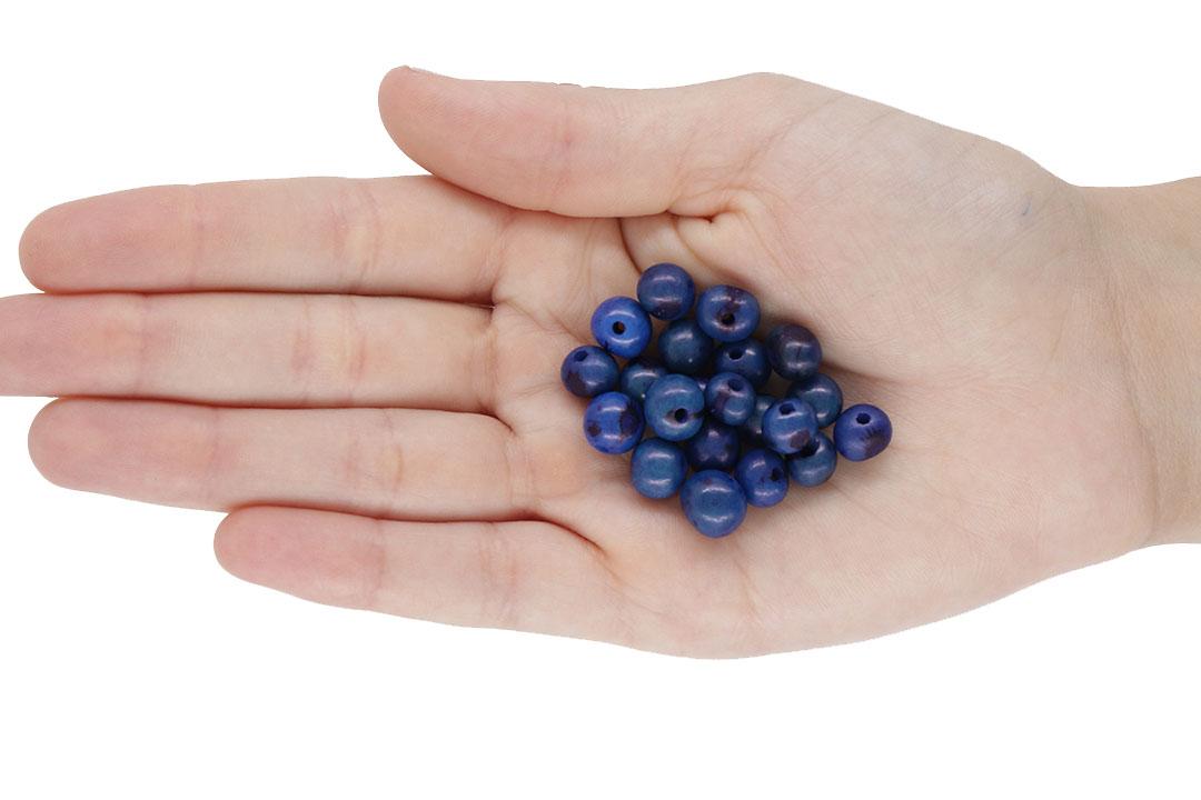 Semente de Açai Azul 8mm - 100grs - CM010  - ArtStones