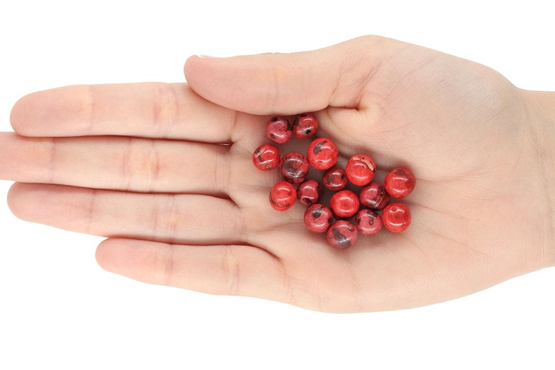 Semente de Açaí Natural Vermelho Mesclado 8mm - 100grs - CM025  - ArtStones
