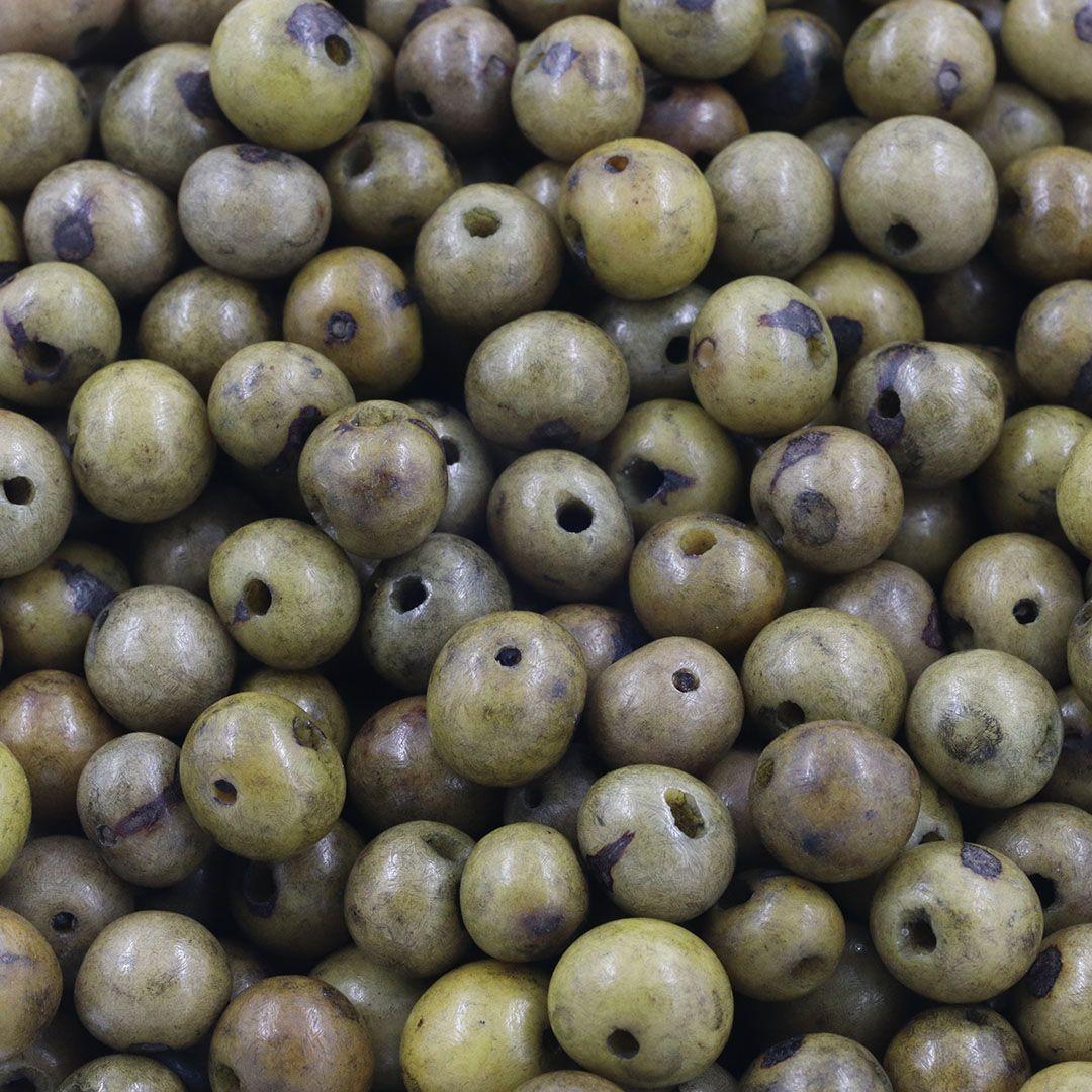 Semente de Açai Verde Musgo 8mm - 100grs - CM005  - ArtStones