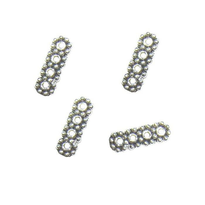 Separador 4 Furos Metal Envelhecido - 06 peças - AM022  - ArtStones