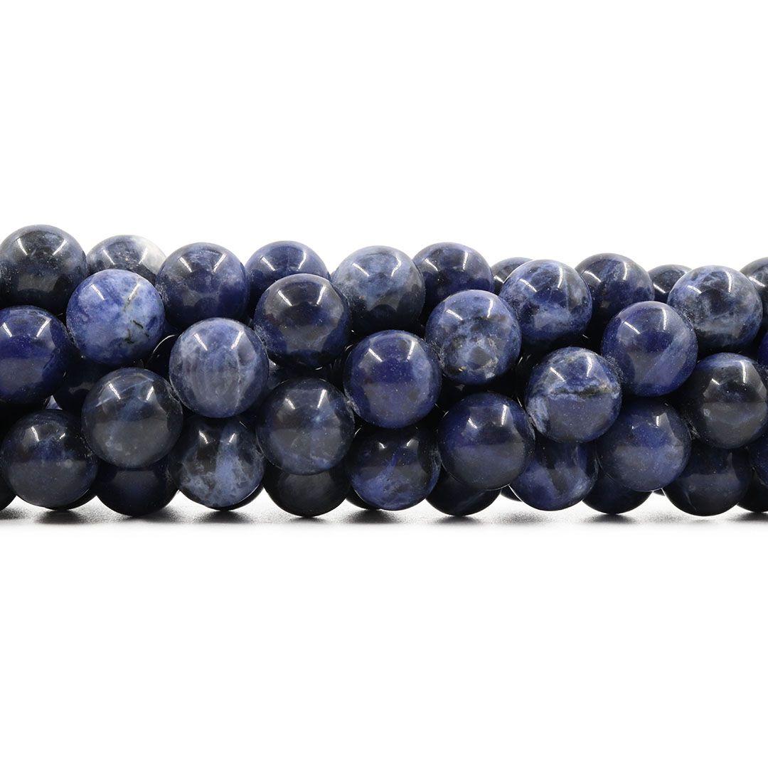 Sodalita Natural Fio com Esferas de 12mm - FESF_111/12  - ArtStones