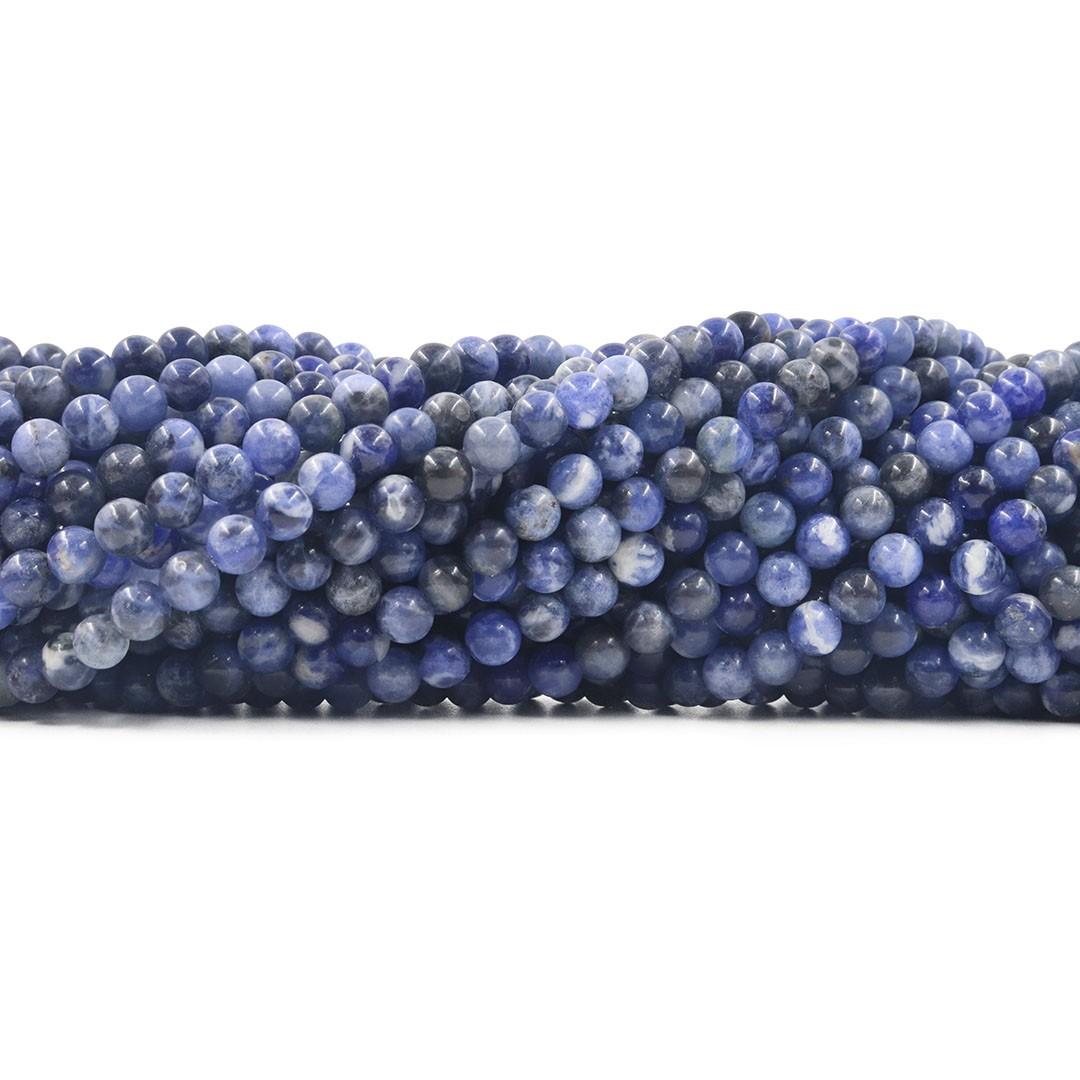 Sodalita Natural Mesclada Fio com Esferas de 6mm - F646  - ArtStones