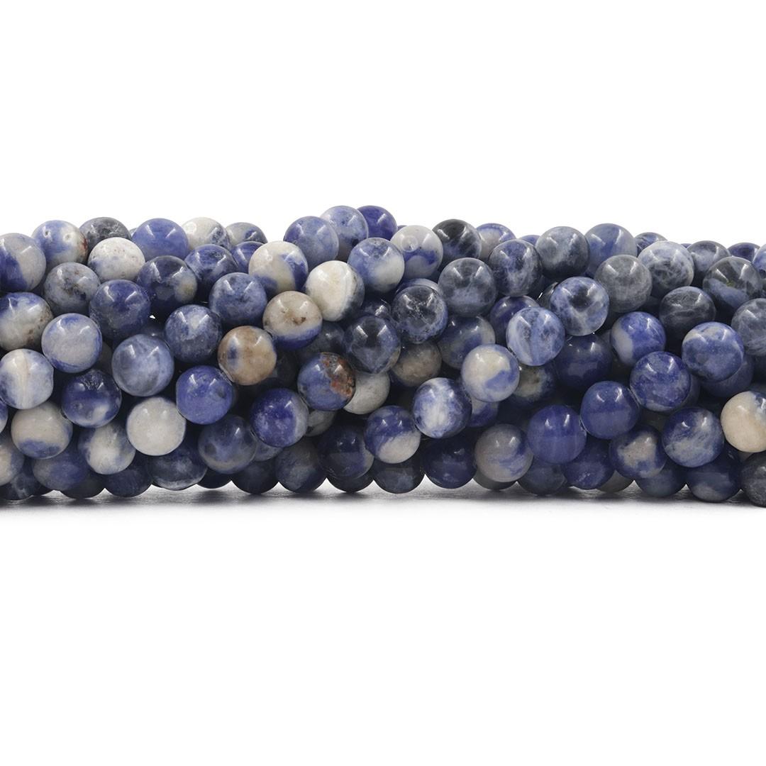 Sodalita Natural Mesclada Fio com Esferas de 8mm - F619  - ArtStones