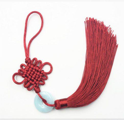 Tassel Longo Nó chinês 23cm Cores Variadas - 01 Peça - JAP09  - ArtStones