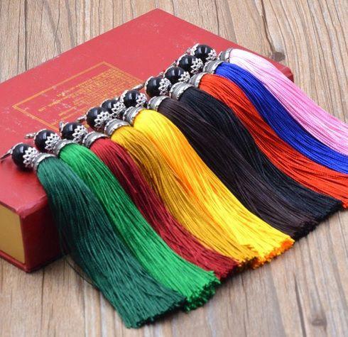 Tassel Longo Poliester Cores Variadas 10cm - 2 Peças - JAP10  - ArtStones