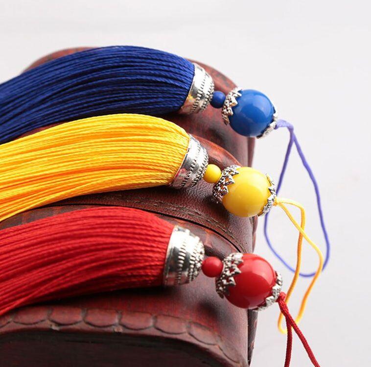 Tassel Médio com Bolinha 10cm Cores Variadas - 02 Peças - JAP11  - ArtStones