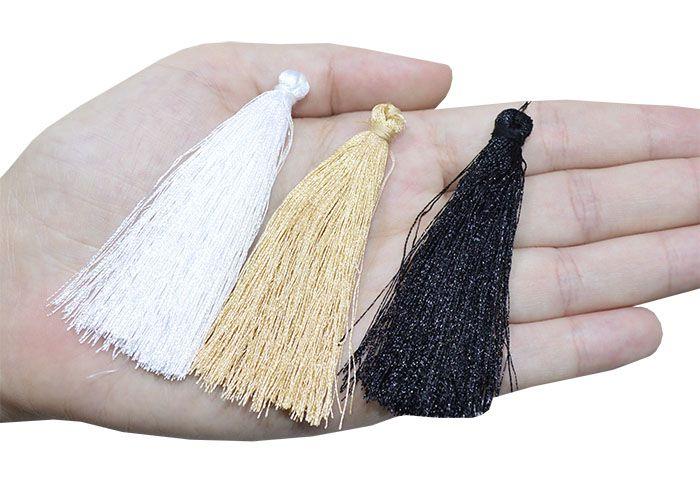 Tassel Rayon para Japamala 7cm Cores Variadas - 3 Peças - JAP_13  - ArtStones