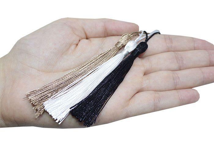 Tassel Poliester 8cm Cores Variadas - 4 Peças - JAP_17  - ArtStones